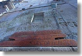 europe, frantoio, gallipoli, horizontal, ipogeo, italy, olive press, perspective, puglia, signs, upview, photograph