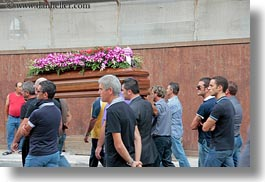 coffin, emotions, europe, flowers, funeral, gallipoli, horizontal, italy, nature, people, procession, puglia, sad, photograph
