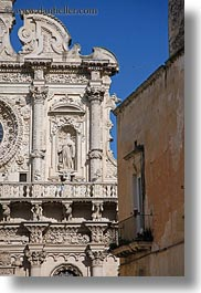 basilica di croce, churches, europe, facades, italy, lecce, puglia, vertical, photograph