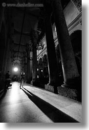 basilica di croce, black and white, europe, glow, italy, lecce, lights, long, puglia, shadows, vertical, photograph