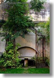 europe, green, italy, ivy, lecce, puglia, stones, tables, vertical, photograph
