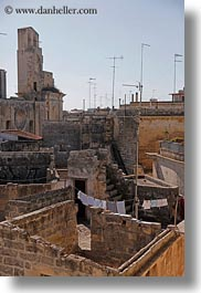 architectural ruins, europe, hangings, italy, laundry, lecce, puglia, vertical, photograph