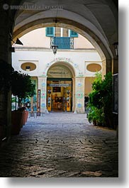 arches, europe, italy, lecce, puglia, stores, under, vertical, photograph