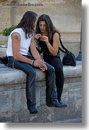 conceptual, couples, emotions, europe, heavy, italy, lecce, metal, people, puglia, romantic, vertical, photograph