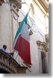 europe, flags, italian, italy, lecce, men, people, puglia, raising, vertical, photograph