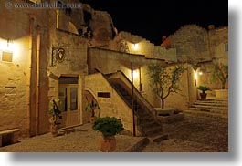 europe, glow, horizontal, hotel st angelo, italy, long exposure, matera, puglia, rooms, upstairs, photograph