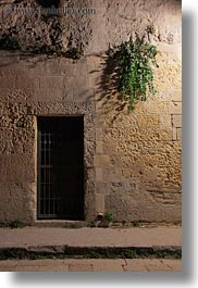 europe, italy, matera, plants, puglia, slow exposure, vertical, walls, photograph