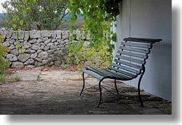 artifacts, benches, europe, horizontal, italy, ivy, masseria murgia albanese, noci, puglia, photograph