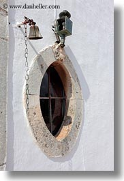 artifacts, bells, europe, italy, masseria murgia albanese, noci, oval, puglia, vertical, windows, photograph