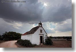 churches, clouds, europe, horizontal, italy, masseria murgia albanese, noci, puglia, small, photograph
