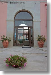 bandino masseria, doors, europe, flowers, fronts, italy, otranto, puglia, vertical, photograph