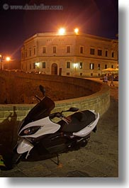 bikes, europe, italy, motorcycles, nite, otranto, puglia, vertical, photograph