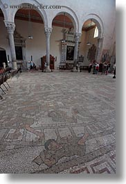 churches, europe, italy, mosaics, otranto, puglia, roman, tiles, vertical, photograph
