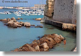 europe, harbor, horizontal, italy, otranto, puglia, womens, photograph