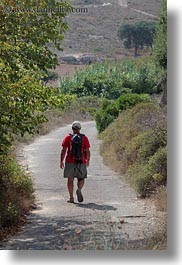 europe, hikers, hiking, italy, otranto, puglia, vertical, photograph