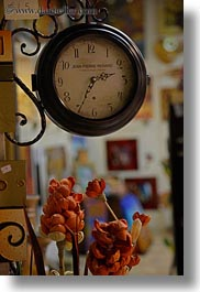 clocks, europe, flowers, italy, otranto, puglia, vertical, photograph