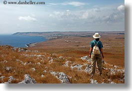 coastline, europe, hiking, horizontal, italy, otranto, puglia, rockies, santo emilian, photograph