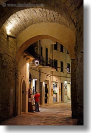 archways, europe, italy, otranto, puglia, towns, vertical, photograph