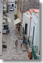 couples, europe, italy, otranto, puglia, towns, vertical, walking, photograph