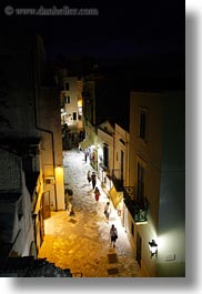 europe, italy, nite, otranto, people, puglia, towns, vertical, walking, photograph