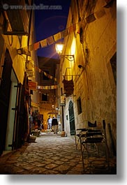 alleys, europe, flags, italy, narrow, otranto, prayers, puglia, towns, vertical, photograph