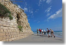 architectural ruins, beaches, coast, europe, hiking, horizontal, italy, porticciolo, puglia, roman, photograph