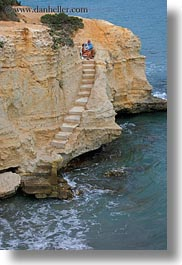 coast, europe, italy, porticciolo, puglia, sitting, stairs, vertical, womens, photograph