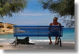 benches, blues, dogs, europe, horizontal, italy, men, people, porticciolo, puglia, photograph