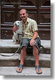 dogs, europe, italy, men, people, puglia, smiling, taranto, vertical, photograph