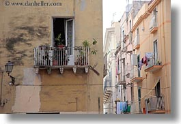 balconies, europe, horizontal, italy, laundry, puglia, taranto, towns, windows, photograph