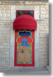 arabic, arts, doors, europe, italy, murals, puglia, trani, vertical, photograph