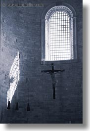 buildings, churches, crosses, europe, italy, puglia, trani, vertical, windows, photograph