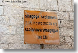 buildings, europe, horizontal, italy, puglia, scolanova, signs, synagogue, trani, photograph
