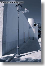 europe, italy, lamp posts, puglia, trani, vertical, walls, white wash, photograph