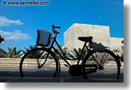 bicycles, europe, horizontal, italy, parked, puglia, trani, photograph