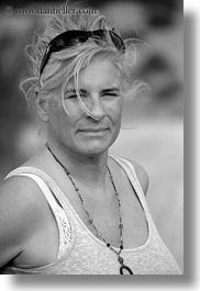 black and white, clothes, emotions, europe, evie, evie sheppard, grey, hair, italy, people, puglia, serious, sunglasses, tourists, vertical, womens, photograph