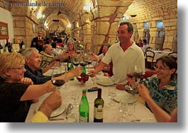 emotions, europe, groups, happy, horizontal, italy, puglia, smiles, toast, tourists, photograph