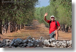 emotions, europe, guiseppe aruta, happy, horizontal, italy, men, people, pepe, puglia, smiles, tour guides, tourists, waving, photograph