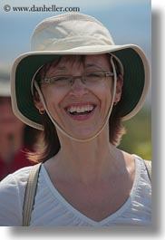 beatrice, clothes, emotions, europe, glasses, happy, hats, italy, karen, karen beatrice, puglia, smiles, tourists, vertical, photograph