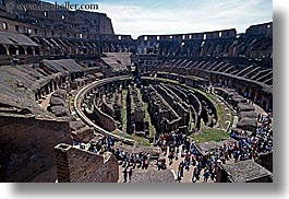 architectural ruins, buildings, colosseum, crowds, europe, horizontal, interiors, italy, landmarks, people, rome, structures, photograph