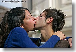 activities, conceptual, couples, europe, horizontal, italy, kissing, people, romantic, rome, photograph