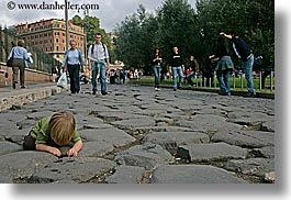 boys, childrens, cobblestones, europe, horizontal, italy, jacks, people, rome, toddlers, photograph