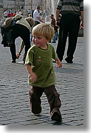 boys, childrens, cobblestones, emotions, europe, happy, italy, jacks, people, rome, running, smiles, toddlers, vertical, photograph