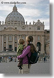 boys, childrens, churches, europe, italy, jack and jill, jacks, jills, mothers, people, rome, st peters, toddlers, vertical, womens, photograph