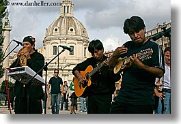 artists, europe, guitars, horizontal, instruments, italy, men, music, musicians, people, peruvian, players, rome, photograph
