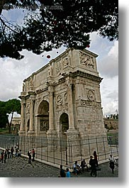arches, architectural ruins, constantine, europe, italy, rome, vertical, photograph