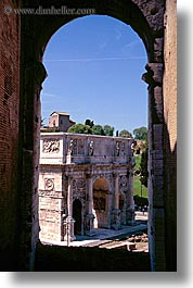 arches, architectural ruins, constantine, europe, italy, landmarks, rome, vertical, photograph