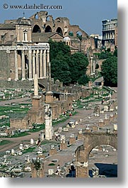 architectural ruins, europe, forum, italy, rome, vertical, photograph