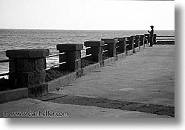 alghero, black and white, europe, horizontal, italy, lonely, piers, sardinia, streets, photograph