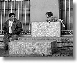 black and white, europe, horizontal, italy, kid, men, sardinia, towns, photograph